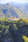 Hermosa vista del monasterio de Trooditissa en Cedar Valley Nature Reserve en Chipre Imagen de archivo libre de regalías