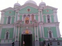 Hermosa vista del monasterio del templo foto de archivo