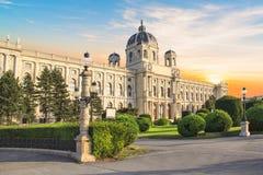 Hermosa vista del museo de Art History en Viena, Austria Fotografía de archivo libre de regalías