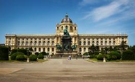 Hermosa vista del museo famoso de Kunsthistorisches viena fotografía de archivo