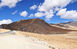 Hermosa vista del paisaje tibetano Foto de archivo libre de regalías