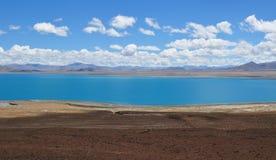 Hermosa vista del paisaje tibetano Foto de archivo