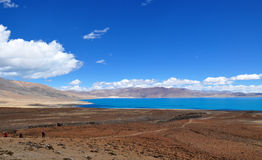 Hermosa vista del paisaje tibetano Fotos de archivo