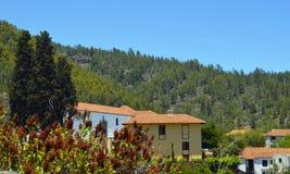 Hermosa vista del pueblo de montaña de Vilaflor en Tenerife, islas Canarias, España Imagenes de archivo