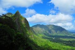 Hermosa vista del puesto de observación de Pali Foto de archivo