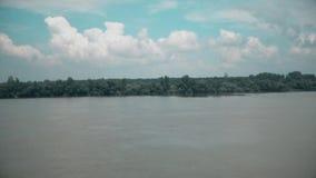 Hermosa vista del río Danubio metrajes