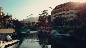 Hermosa vista del río, Icmeler, Turquía almacen de video