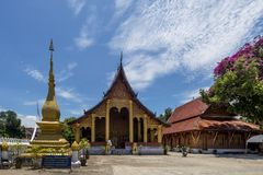 Hermosa vista del templo famoso de Wat Sensoukharam en Luang Prabang, Laos Imagenes de archivo