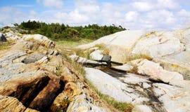 Hermosa vista del terreno rocoso Foto de archivo