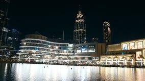 Hermosa vista en Dubai almacen de metraje de vídeo