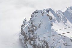 Hermosa vista en el Dachstein - la Austria Fotos de archivo libres de regalías