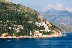 Hermosa vista en la costa de Croacia Imagen de archivo