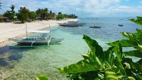 Hermosa vista en la costa de la isla, isla Filipinas de Malapascua fotografía de archivo libre de regalías