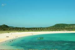 Hermosa vista en la playa de Kuta en NTT Indonesia de Lombok Foto de archivo libre de regalías