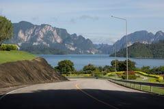 Hermosa vista en la presa, Tailandia Fotografía de archivo