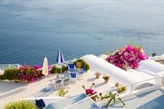 Hermosa vista en Oia, Santorini Foto de archivo libre de regalías