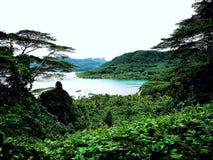 Hermosa vista en Polinesia francesa fotografía de archivo
