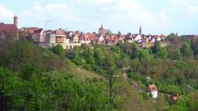 Hermosa vista en Rothenburg imagenes de archivo
