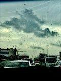 Hermosa vista en un viaje del coche imagen de archivo