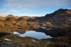 Hermosa vista sobre el parque nacional del EL Cajas, Ecuador imágenes de archivo libres de regalías