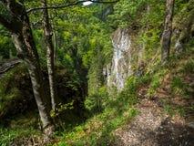 Hermosa vista, valle, garganta, naturaleza pura, Tatras del oeste, Eslovaquia Fotos de archivo