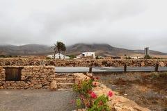 Hermosa vista y arquitectura tradicional en las islas Canarias, España Imagen de archivo