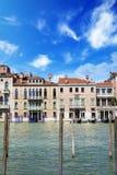 Hermosas vistas de Grand Canal en Venecia, Italia Fotos de archivo libres de regalías