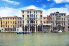 Hermosas vistas de Grand Canal en Venecia, Italia Foto de archivo