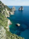 Hermosas vistas de la costa de Amalfi Foto de archivo libre de regalías
