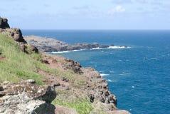 Hermosas vistas de la costa del norte de Maui, llevadas de la carretera con curvas famosa Hana Maui, Hawaii Foto de archivo