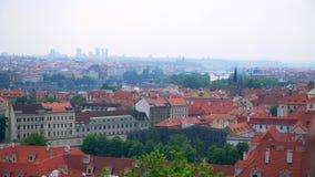 Hermosas vistas de Praga de la ciudad metrajes