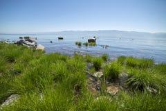 Hermosas vistas del lago Baikal Foto de archivo