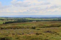 Hermosas vistas y formación de la nube, North Yorkshire Fotos de archivo