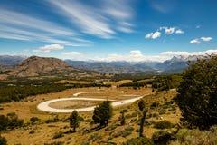Hermoso Caracoles el camino en la Argentina Imágenes de archivo libres de regalías
