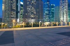 Hermoso de escena de la noche de Shangai Foto de archivo libre de regalías