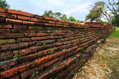 Hermoso de la pared de ladrillos rojos antigua Fotografía de archivo