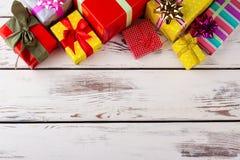 Hermoso diseño de regalos de la Navidad Imagenes de archivo