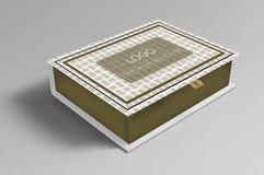 Hermoso diseño dulce de la caja/de la caja del chocolate fotografía de archivo libre de regalías