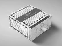 Hermoso diseño dulce de la caja/de la caja del chocolate imagen de archivo libre de regalías
