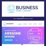 Hermoso el concepto del negocio marca Digitaces, impresora, impresión stock de ilustración