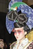 Hermoso en el modelo del maquillaje del color Fotografía de archivo