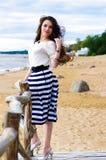 Hermoso en la playa Imágenes de archivo libres de regalías