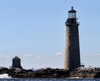 Hermoso, faro, casa ligera, agua, Boston, Massachusetts, velero, arte de agua, watercraft, océano, río fotografía de archivo