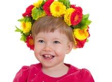 Hermoso goce de una niña agradable Foto de archivo libre de regalías