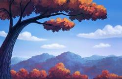 Hermoso para el cambio del color del otoño Foto de archivo libre de regalías