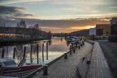 Tista-río en puesta del sol Foto de archivo libre de regalías