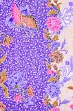 Hermoso y colorido del batik del malasio y del indonesio del arte Fotografía de archivo libre de regalías