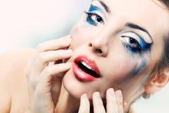 Hermosos atractivos de la mujer mojaron Fotos de archivo
