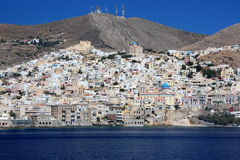 Hermoupolis, isla de Syros Imagen de archivo libre de regalías