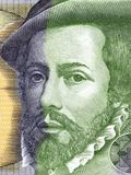 Hernan Cortes portrait. From Spanish money Royalty Free Stock Photography